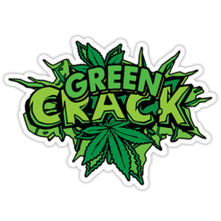 Green Crack Sticker