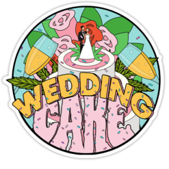 Wedding Cake Strain Sticker
